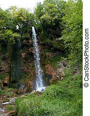 гора, водопад