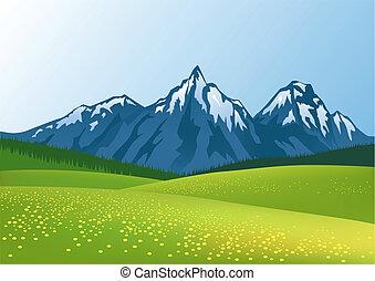 гора, задний план