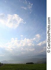 гора, небо