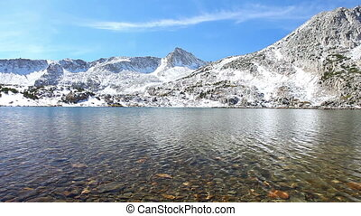 гора, озеро