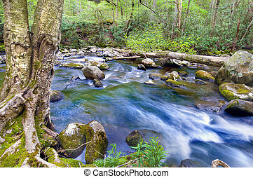 гора, поток