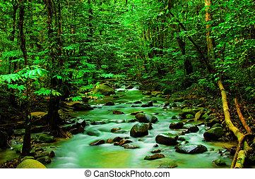 гора, река