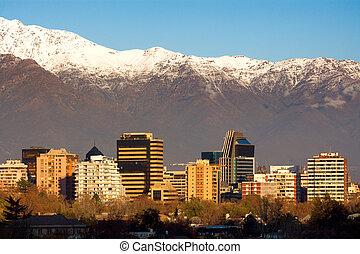 гора, сантьяго, city., район, это, жилой, de, коммерческая,...