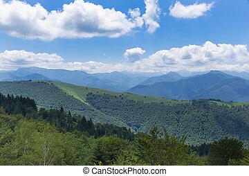 гора, хребет, в, , пиренеи, в, boussenac