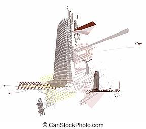 городской, задний план