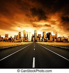 городской, шоссе