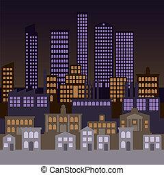 город, задний план