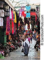 город, иерусалим, старый, рынок