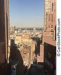 город, квадрат, йорк, новый, times