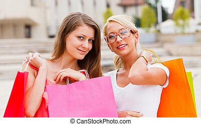город, поход по магазинам, beauties