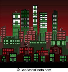 город, рождество