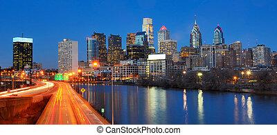 город, филадельфия, центр