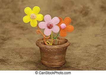 горшок, цветок