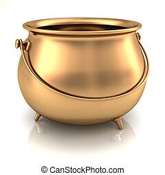 горшок, of, золото
