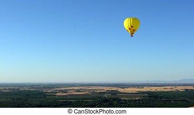 горячий, воздух, воздушный шар