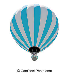 горячий, воздушный шар, воздух