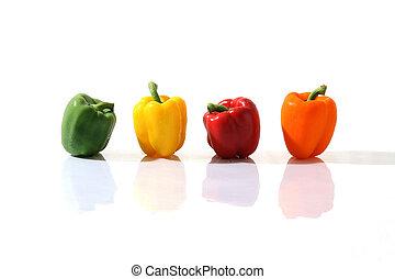 горячий, красочный, capsicums, 04
