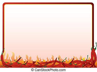 горячий, перец, красный