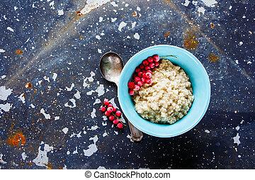 горячий, питание, для, завтрак