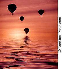 горячий, balloons, воздух
