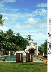 гостиница, бассейн, плавание
