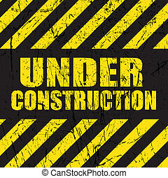 гранж, под, строительство, задний план