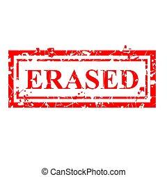 гранж, просто, печать, isolated, ластик, вектор, erased, белый, красный