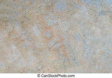гранж, треснувший, бетон, полированный, пол