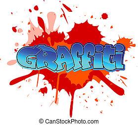 граффити, задний план