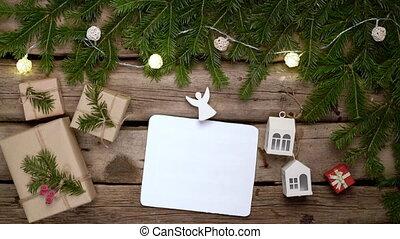 грубый, белый, лист, рамка, пустой, planks, weathered,...