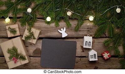 грубый, рамка, лист, пустой, planks, черный, weathered,...