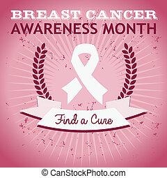 грудь, рак, осведомленность, плакат