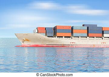 грузовое судно, контейнер