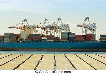 грузовой, перевозка, промышленность, of, экономика, growing.