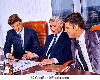 группа, бизнес, люди, в, office.