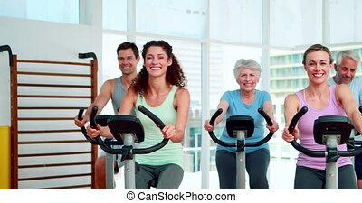 группа, прядение, фитнес, класс