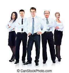 группа, of, бизнес, люди, team., isolated, на, белый, background.
