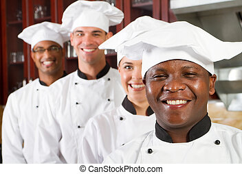 группа, of, профессиональный, chefs
