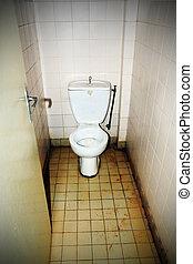 грязный, общественности, туалет