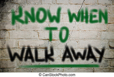 далеко, концепция, когда, знать, ходить