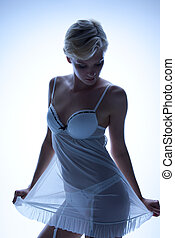 дамское белье, прозрачный, сексуальный, женщина