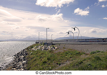 , дань, к, , ветер, в, puerto, natales, в, патагония, чили