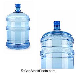 два, большой, bottles, of, воды, для, доставка