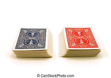 два, decks, of, cards