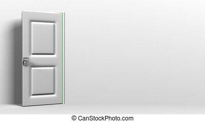 дверь, белый