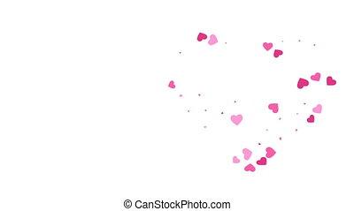 движение, hearts, animation., графический, сформированный