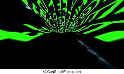 двоичный, данные, туннель