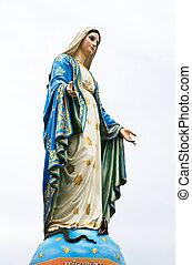 девственница, мэри, статуя, в, chantaburi, провинция, thailand.