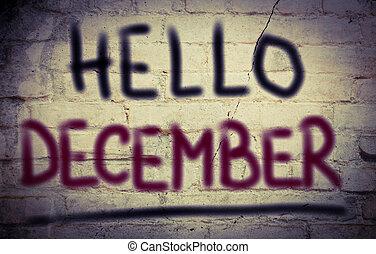 декабрь, концепция, здравствуйте