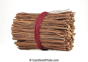 декоративный, sticks, задний план, isolated, аромат, белый